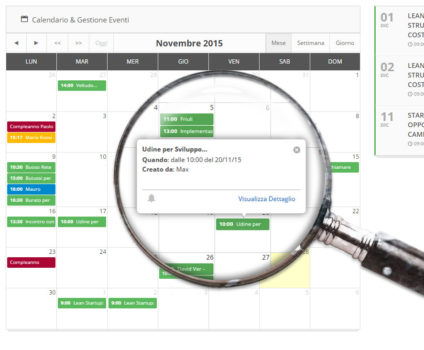 UI calendario